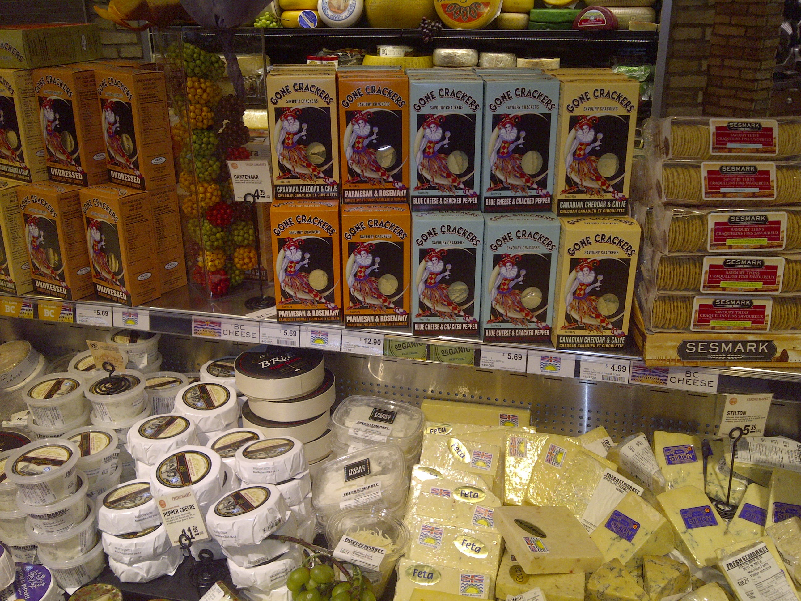 Gone Crackers displayed at Fresh St Market