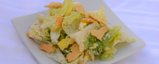 Ceasar Salad with Gone Cracker's as Croutons